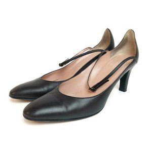 Jill Stuart Black Leather made in Italy 6.5